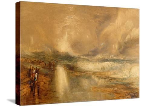 Rockets and Blue Lights, 1855 (Chromolitho)-J^ M^ W^ Turner-Stretched Canvas Print