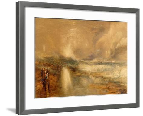 Rockets and Blue Lights, 1855 (Chromolitho)-J^ M^ W^ Turner-Framed Art Print