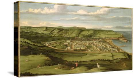 Whitehaven, Cumbria, Showing Flatt Hall, c.1730-35-Matthias Read-Stretched Canvas Print
