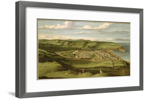 Whitehaven, Cumbria, Showing Flatt Hall, c.1730-35-Matthias Read-Framed Art Print