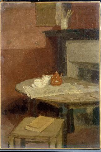 The Brown Tea Pot, 1915-16-Gwen John-Stretched Canvas Print