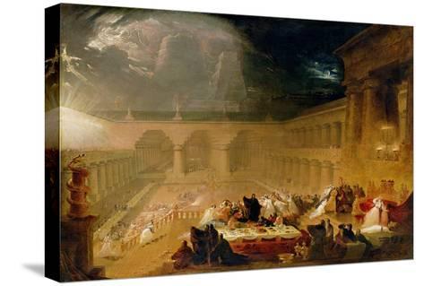 Belshazzar's Feast-John Martin-Stretched Canvas Print