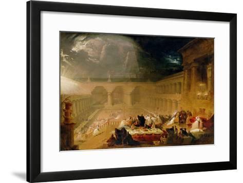 Belshazzar's Feast-John Martin-Framed Art Print