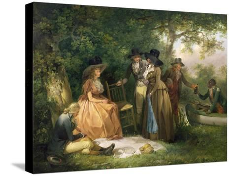 The Angler's Repast-George Morland-Stretched Canvas Print