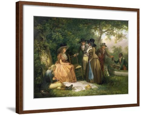 The Angler's Repast-George Morland-Framed Art Print