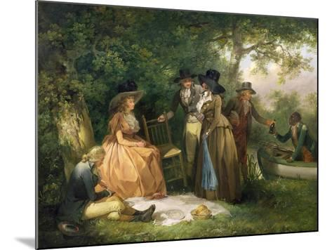 The Angler's Repast-George Morland-Mounted Giclee Print