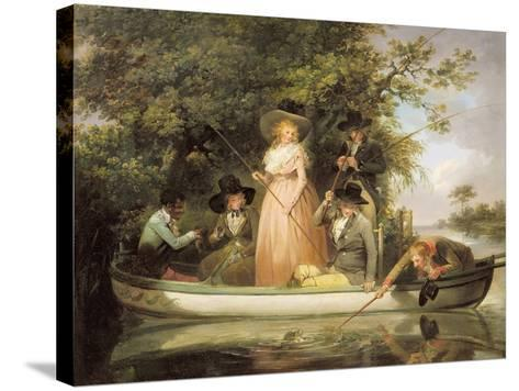 A Party Angling-George Morland-Stretched Canvas Print