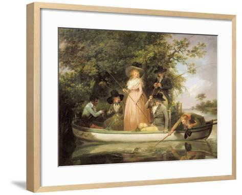 A Party Angling-George Morland-Framed Art Print