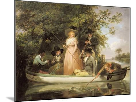 A Party Angling-George Morland-Mounted Giclee Print