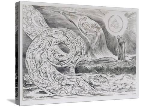 The Circle of the Lustful', Illustrations of Dante's Divine Comedy, 1827 (Engraving on India Paper)-William Blake-Stretched Canvas Print