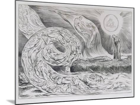 The Circle of the Lustful', Illustrations of Dante's Divine Comedy, 1827 (Engraving on India Paper)-William Blake-Mounted Giclee Print