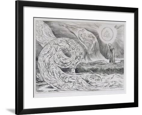 The Circle of the Lustful', Illustrations of Dante's Divine Comedy, 1827 (Engraving on India Paper)-William Blake-Framed Art Print