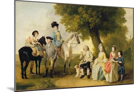 The Drummond Family, c.1769-Johann Zoffany-Mounted Giclee Print