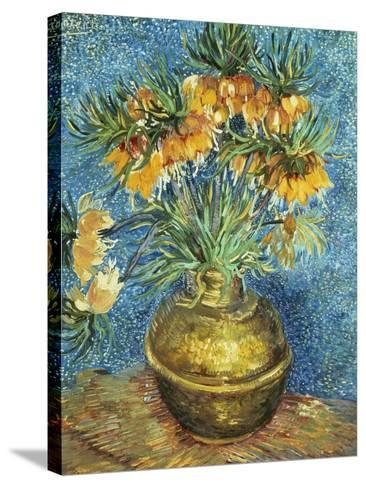 Crown Imperial Fritillaries in a Copper Vase, 1886-Vincent van Gogh-Stretched Canvas Print