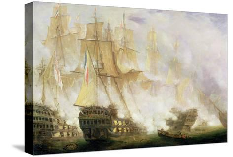 The Battle of Trafalgar, c.1841-John Christian Schetky-Stretched Canvas Print