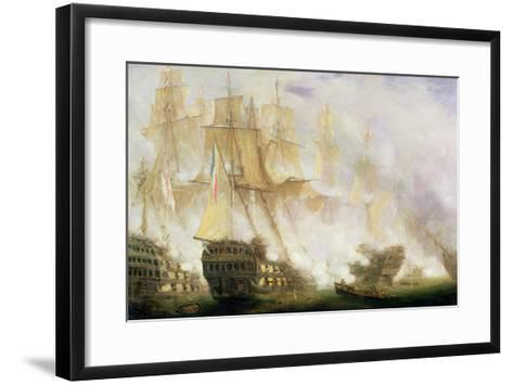 The Battle of Trafalgar, c.1841-John Christian Schetky-Framed Art Print