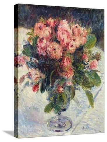 Moss-Roses, c.1890-Pierre-Auguste Renoir-Stretched Canvas Print
