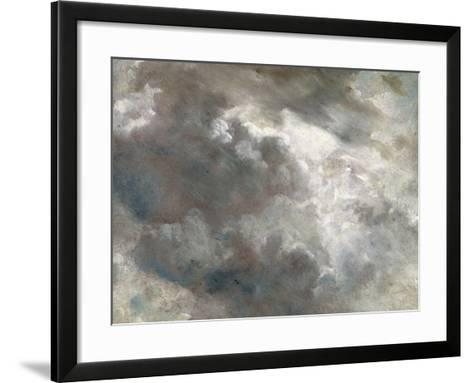 Cloud Study, 1821 (Oil on Paper Laid Down on Paper)-John Constable-Framed Art Print