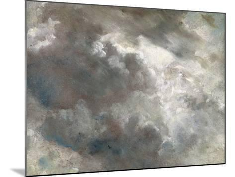 Cloud Study, 1821 (Oil on Paper Laid Down on Paper)-John Constable-Mounted Giclee Print