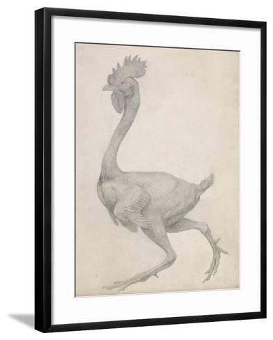 Fowl: Lateral View with Most Feathers Removed-George Stubbs-Framed Art Print