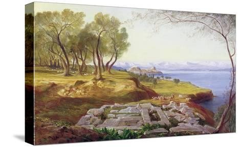 Corfu from Ascension, c.1856-64-Edward Lear-Stretched Canvas Print