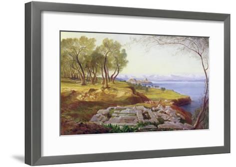 Corfu from Ascension, c.1856-64-Edward Lear-Framed Art Print