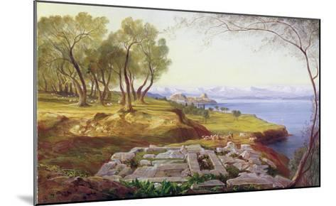 Corfu from Ascension, c.1856-64-Edward Lear-Mounted Giclee Print