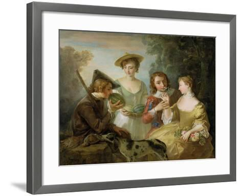 The Sense of Smell, c.1744-47-Philippe Mercier-Framed Art Print
