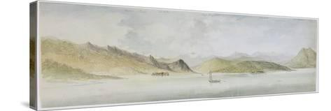 Lago Maggiore (W/C, Pen, Ink and Graphite on Paper)-Charles Gore-Stretched Canvas Print