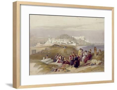 Jaffa, Ancient Joppa, April 16th 1839, Plate 61 from Volume II of 'The Holy Land'-David Roberts-Framed Art Print