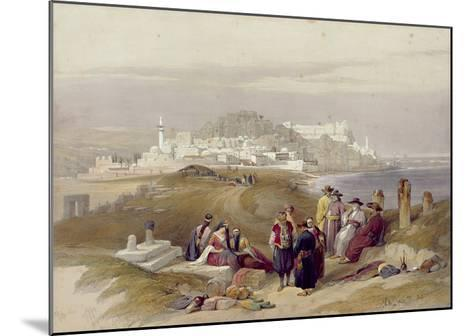 Jaffa, Ancient Joppa, April 16th 1839, Plate 61 from Volume II of 'The Holy Land'-David Roberts-Mounted Giclee Print