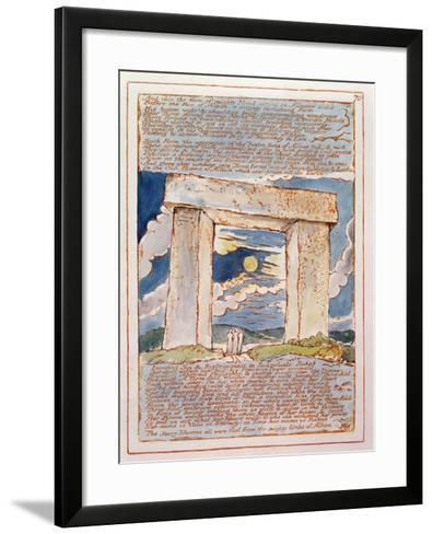 And This the Form of Mighty Hand...', Plate 70 from 'Jerusalem' (Bentley Copy E) 1804-20-William Blake-Framed Art Print