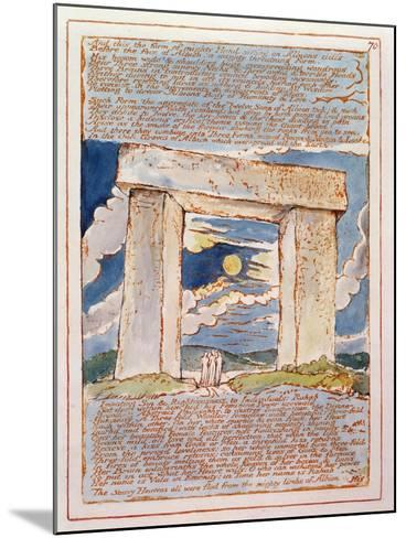 And This the Form of Mighty Hand...', Plate 70 from 'Jerusalem' (Bentley Copy E) 1804-20-William Blake-Mounted Giclee Print