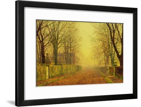 Evening Glow, c.1884-John Atkinson Grimshaw-Framed Art Print