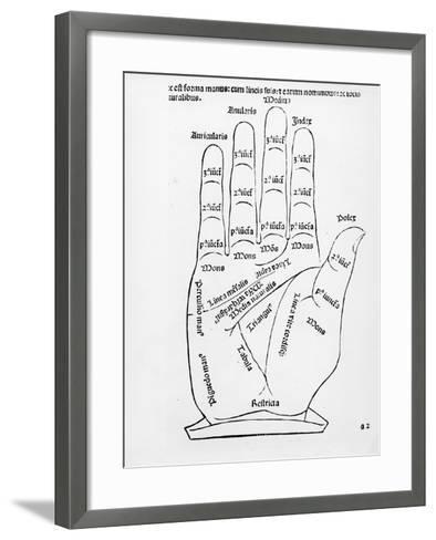 Palmistry (Woodcut) (B/W Photo)-English-Framed Art Print