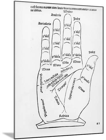 Palmistry (Woodcut) (B/W Photo)-English-Mounted Giclee Print