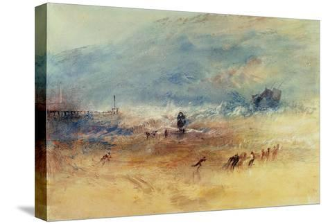 Yarmouth Sands, C.1840 (W/C on Paper)-J^ M^ W^ Turner-Stretched Canvas Print