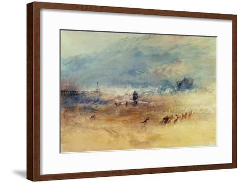 Yarmouth Sands, C.1840 (W/C on Paper)-J^ M^ W^ Turner-Framed Art Print