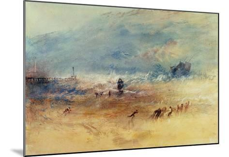 Yarmouth Sands, C.1840 (W/C on Paper)-J^ M^ W^ Turner-Mounted Giclee Print