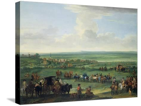George I (1660-1727) at Newmarket, 4th or 5th October 1717, c.1717-John Wootton-Stretched Canvas Print