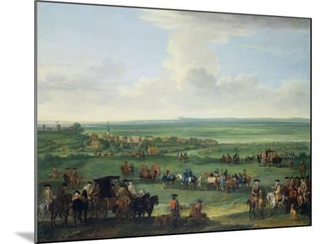 George I (1660-1727) at Newmarket, 4th or 5th October 1717, c.1717-John Wootton-Mounted Giclee Print