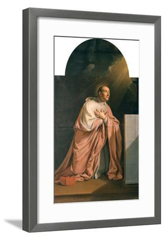 St. Charles Borromeo (1538-84)-Philippe De Champaigne-Framed Art Print
