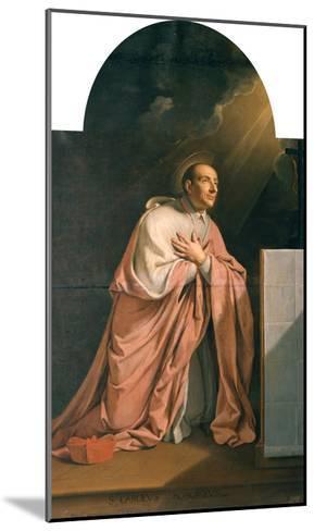 St. Charles Borromeo (1538-84)-Philippe De Champaigne-Mounted Giclee Print
