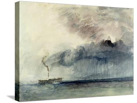 Steamboat in a Storm, C.1841 (W/C and Pencil on Paper)-J^ M^ W^ Turner-Stretched Canvas Print