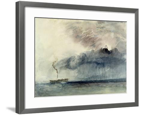 Steamboat in a Storm, C.1841 (W/C and Pencil on Paper)-J^ M^ W^ Turner-Framed Art Print