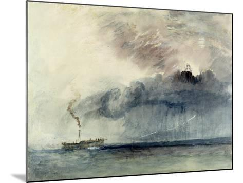 Steamboat in a Storm, C.1841 (W/C and Pencil on Paper)-J^ M^ W^ Turner-Mounted Giclee Print