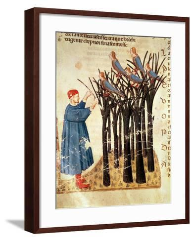 Dante and the Souls Transformed into Birds, from 'The Divine Comedy' by Dante Alighieri (1265-1321)-Italian-Framed Art Print