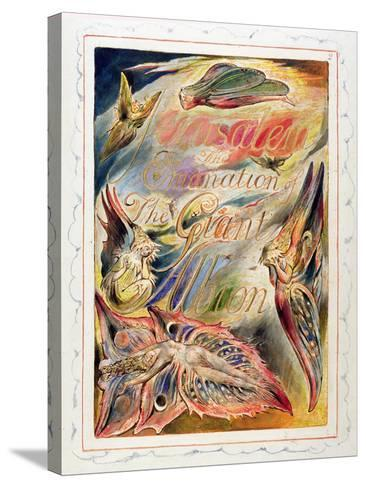 Title Page for 'Jerusalem: the Emanation of the Giant Albion, 1804-20-William Blake-Stretched Canvas Print