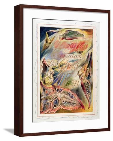 Title Page for 'Jerusalem: the Emanation of the Giant Albion, 1804-20-William Blake-Framed Art Print