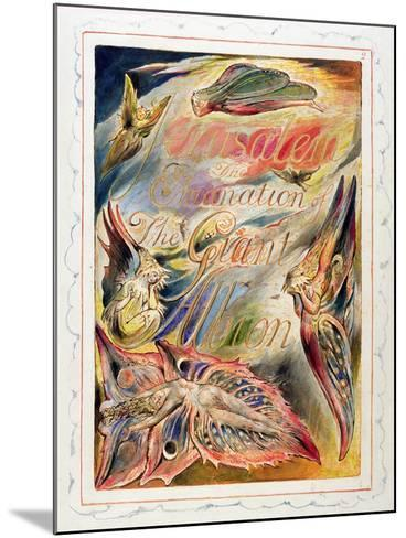 Title Page for 'Jerusalem: the Emanation of the Giant Albion, 1804-20-William Blake-Mounted Giclee Print